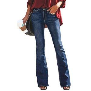 Jeans - Skinny Bell Bottom Jeans Flare Wide Leg Slim Fit